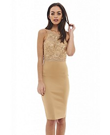 Lace Top Midi Dress