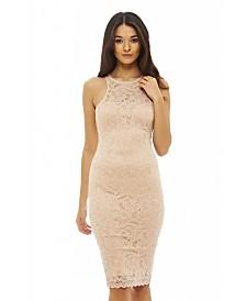 AX Paris Cut in Neck Lace Bodycon Dress