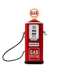 Metal Gas Station Pump