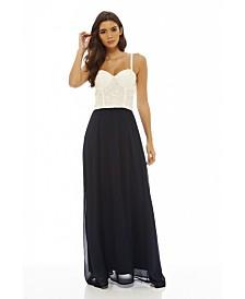 AX Paris Contrast Lace Bodice Maxi Dress