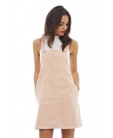 AX Paris Faux Suede Dungaree Dress