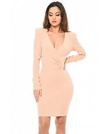 AX Paris Blush Bodycon Ruched Dress