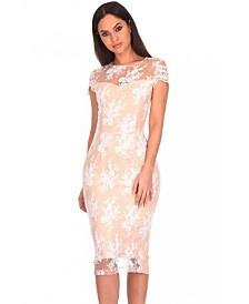 AX Paris Floral Lace Midi Dress