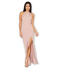 AX Paris Mesh Detailing Maxi Dress
