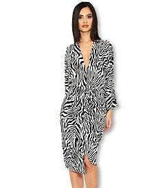 AX Paris Zebra Print Wrap Dress