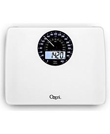 Rev Digital Bathroom Scale with Electro-Mechanical Display