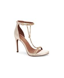 BCBGMAXAZRIA Ella Chain T-Strap Sandals