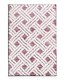 "Martha Stewart Collection High Low Lattice 20"" x 30"" Bath Rug, Created for Macy's"