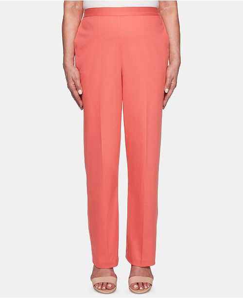 Alfred Dunner Petite Coastal Drive Pull-On Pants