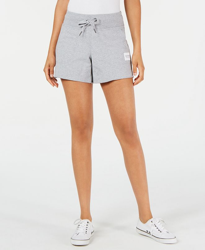 Calvin Klein Ribbed-Waist Raw-Hem Shorts