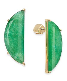 Kate Spade New York  Gold-Tone Stone Half-Circle Drop Earrings
