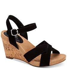 Style & Co Women's Ferrnn Wedge Sandals, Created for Macy's