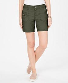 Petite Flap-Pocket Shorts, Created for Macy's