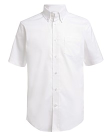 Little Boys Stretch White Oxford Shirt