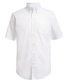Little Boys Stretch White Oxford Shirt