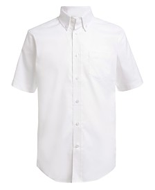 Nautica Little Boys Stretch White Oxford Shirt