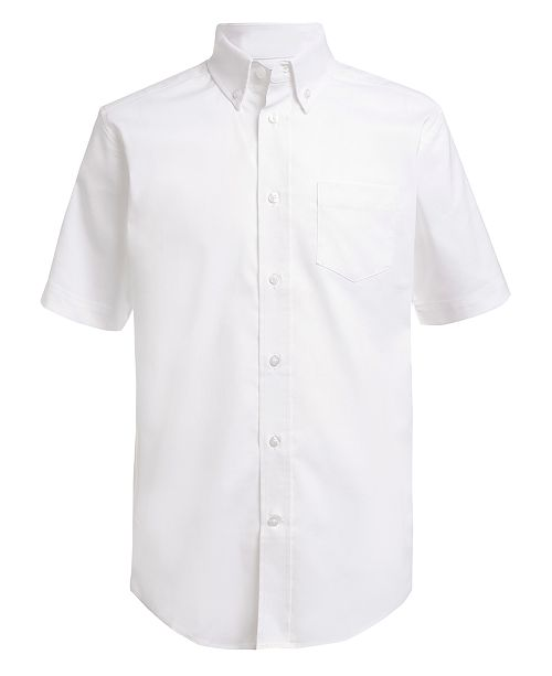 Nautica Little Boys Stretch White Oxford Shirt