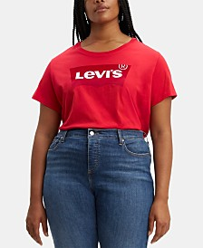 Levi's® Trendy Plus Size Cotton Logo Graphic T-Shirt