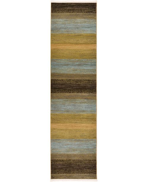 "Bridgeport Home Ojas Oja1 Beige 2' 7"" x 10' Runner Area Rug"
