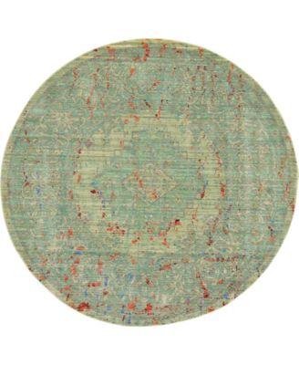 Malin Mal7 Green 6' x 6' Round Area Rug