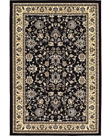 Bridgeport Home Arnav Arn1 Black 6' x 9' Area Rug