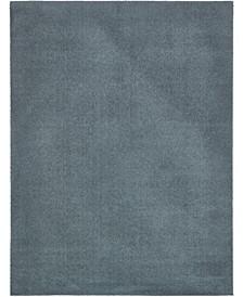 Salon Solid Shag Sss1 Slate Blue 9' x 12' Area Rug
