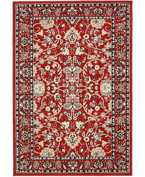 Bridgeport Home Arnav Arn1 Red 4' x 6' Area Rug