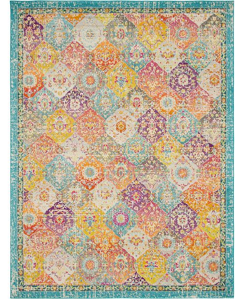 Bridgeport Home Lorem Lor2 Multi 9' x 12' Area Rug