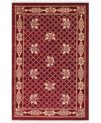Sahil Sah5 Red 4' x 6' Area Rug