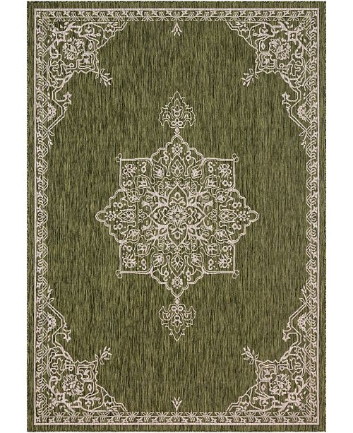 "Bridgeport Home Pashio Pas8 Green 8' x 11' 4"" Area Rug"