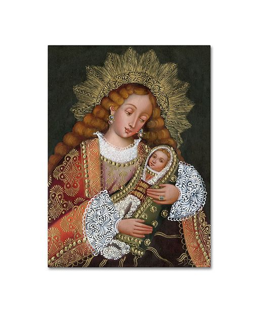 "Trademark Global Masters Fine Art 'The Virgin and Son IV' Canvas Art - 18"" x 24"""