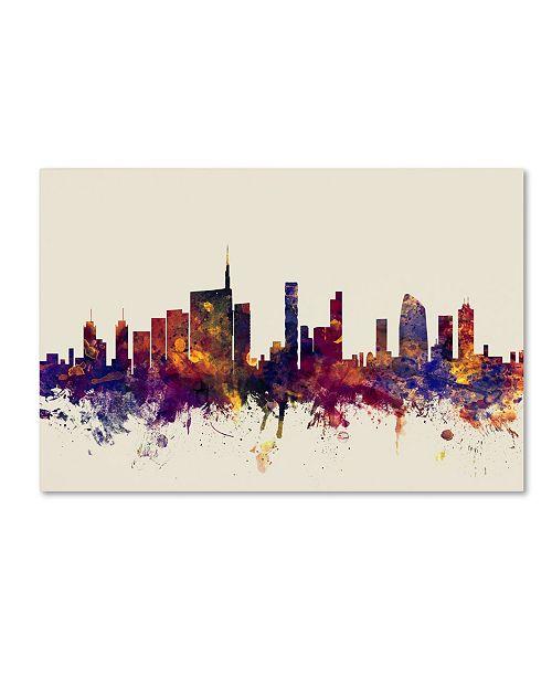 "Trademark Global Michael Tompsett 'Milan Italy Skyline' Canvas Art - 16"" x 24"""
