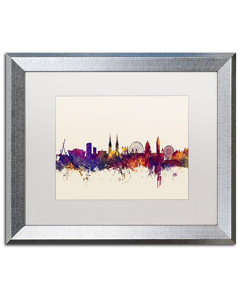"Trademark Global Michael Tompsett 'Belfast North Ireland Skyline' Matted Framed Art - 16"" x 20"""