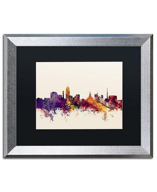 """Trademark Global Michael Tompsett 'Lansing Michigan Skyline' Matted Framed Art - 16"""" x 20"""""""