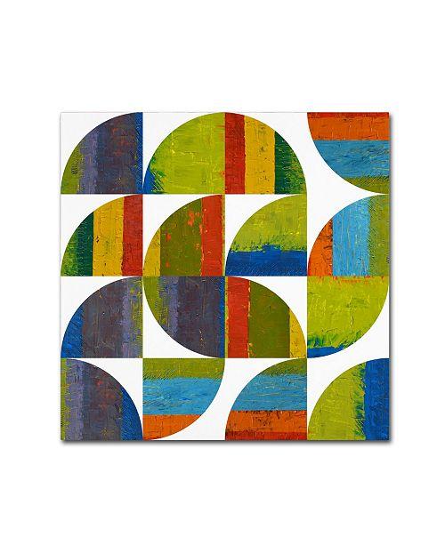 "Trademark Global Michelle Calkins 'Quarter Rounds 2.0' Canvas Art - 18"" x 18"""