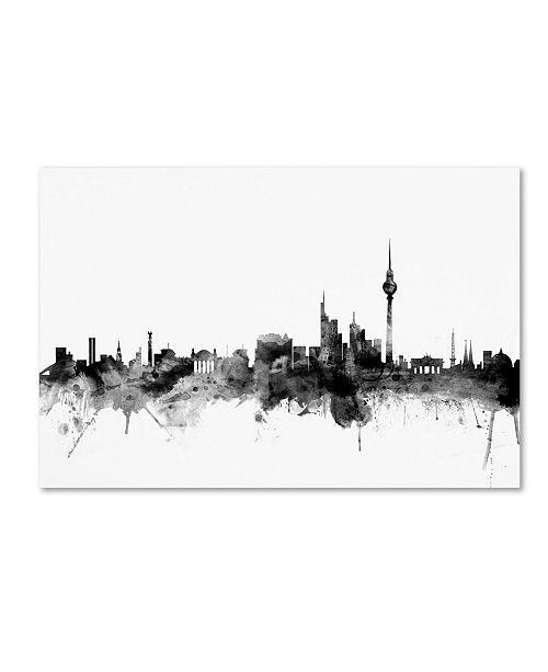 "Trademark Global Michael Tompsett 'Berlin Germany Skyline B&W' Canvas Art - 16"" x 24"""
