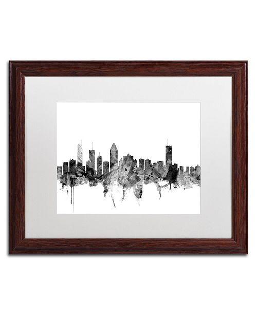 "Trademark Global Michael Tompsett 'Montreal Canada Skyline B&W' Matted Framed Art - 16"" x 20"""