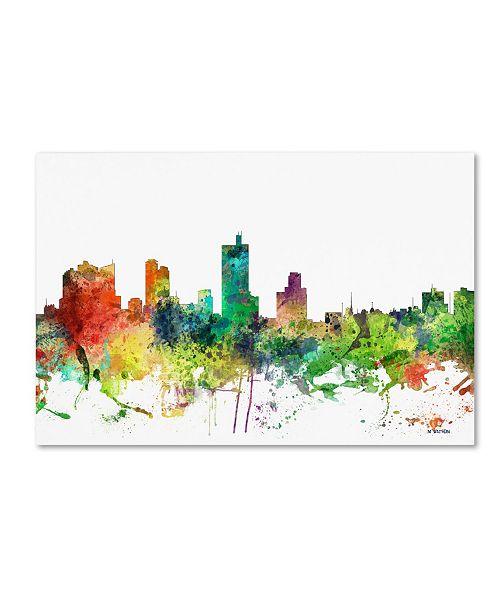 "Trademark Global Marlene Watson 'Fort Worth Texas Skyline SP' Canvas Art - 16"" x 24"""