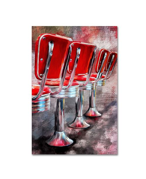 """Trademark Global Lois Bryan 'Counter Seating Available' Canvas Art - 12"""" x 19"""""""