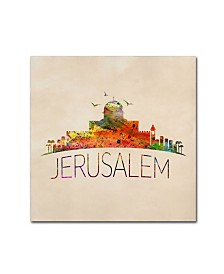 "Mark Ashkenazi 'Jerusalem' Canvas Art - 18"" x 18"""