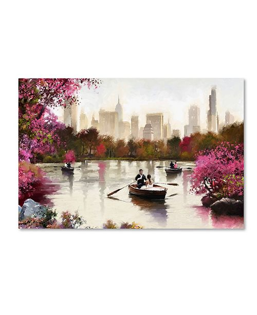 "Trademark Global The Macneil Studio 'New York Haze' Canvas Art - 16"" x 24"""