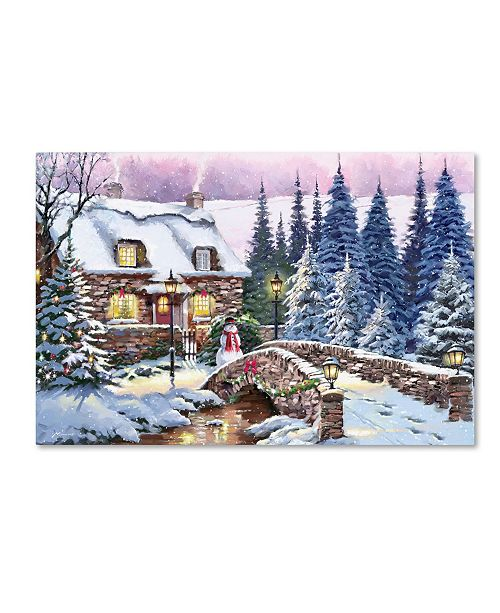 "Trademark Global The Macneil Studio 'Cottage in Woods' Canvas Art - 16"" x 24"""