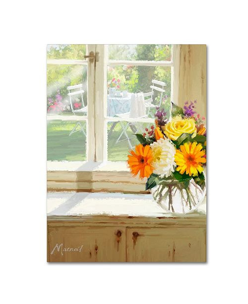 "Trademark Global The Macneil Studio 'Garden Table' Canvas Art - 18"" x 24"""