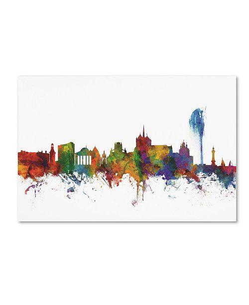 "Trademark Global Michael Tompsett 'Geneva Switzerland Skyline II' Canvas Art - 16"" x 24"""