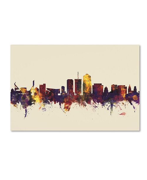 "Trademark Global Michael Tompsett 'Tucson Arizona Skyline V' Canvas Art - 16"" x 24"""