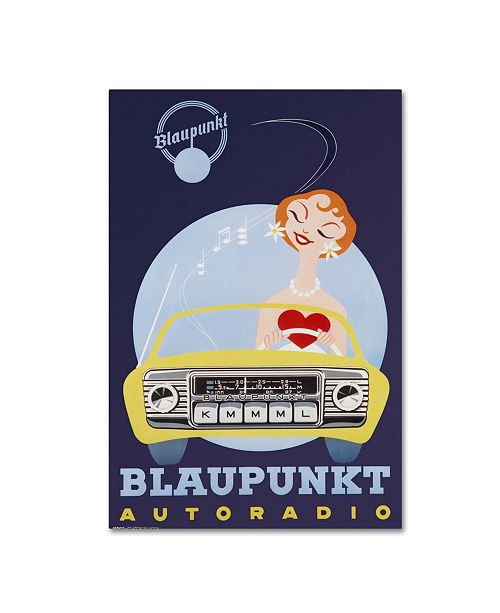 "Trademark Global Vintage Apple Collection 'Blaunkpunkt' Canvas Art - 16"" x 24"""
