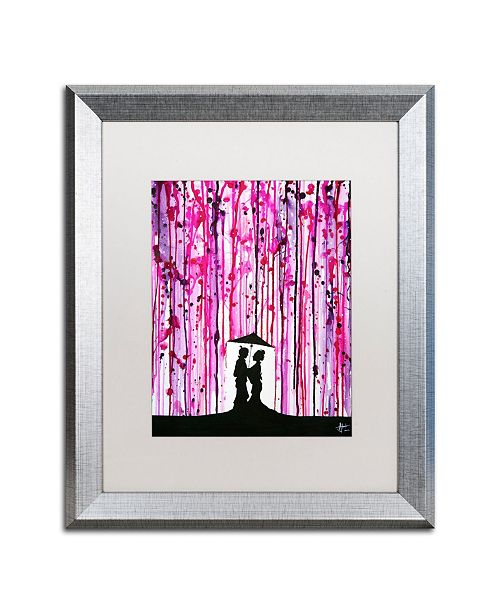 "Trademark Global Marc Allante 'Wild Blossoms' Matted Framed Art - 16"" x 20"""