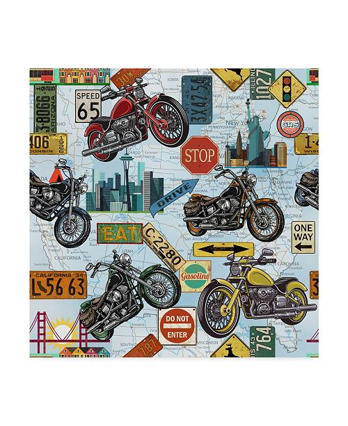 "Trademark Global Jean Plout 'Classic Travelers' Canvas Art - 18"" x 18"""
