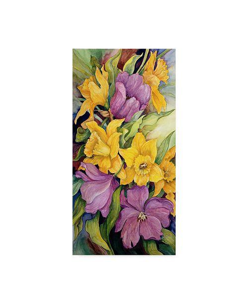 "Trademark Global Joanne Porter 'Tulips And Daffodils' Canvas Art - 16"" x 32"""