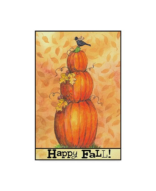 "Trademark Global Melinda Hipsher 'Pumpkins Happy Fall' Canvas Art - 16"" x 24"""